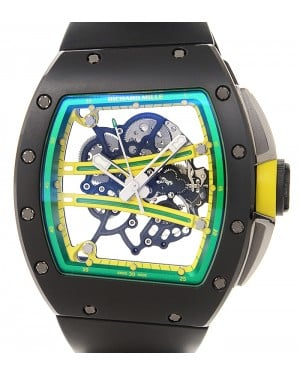 Richard Mille Yohan Blake Manual RM61-01 Ceramic Rubber Transparent Skull Automatic BRAND NEW