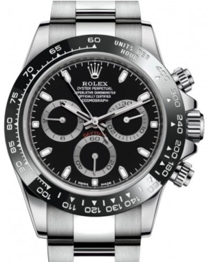 Rolex Daytona Stainless Steel Black Index Dial Ceramic Bezel Oyster Bracelet 116500LN - BRAND NEW