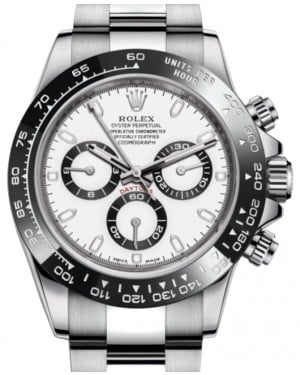 Rolex Daytona Stainless Steel White Index Dial Ceramic Bezel Oyster Bracelet 116500LN - BRAND NEW