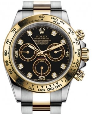 Rolex Daytona Yellow Gold/Steel Black Diamond Dial Yellow Gold Bezel Oyster Bracelet 116503 - BRAND NEW