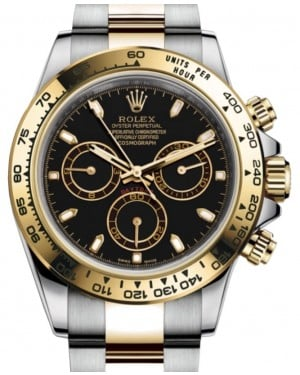 Rolex Daytona Yellow Gold/Steel Black Index Dial Yellow Gold Bezel Oyster Bracelet 116503 - BRAND NEW