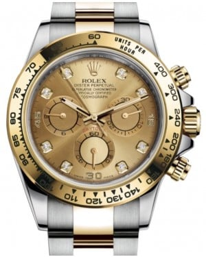 Rolex Daytona Yellow Gold/Steel Champagne Diamond Dial Yellow Gold Bezel Oyster Bracelet 116503 - BRAND NEW