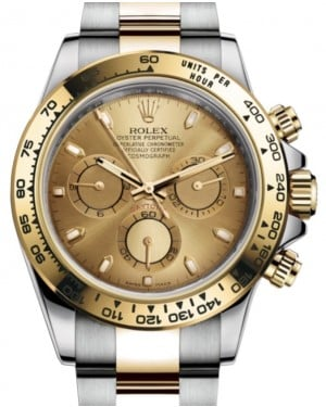 Rolex Daytona Yellow Gold/Steel Champagne Index Dial Yellow Gold Bezel Oyster Bracelet 116503 - BRAND NEW