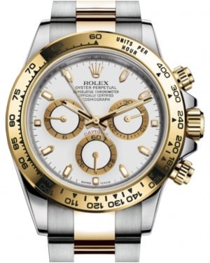 Rolex Daytona Yellow Gold/Steel White Index Dial Yellow Gold Bezel Oyster Bracelet 116503 - BRAND NEW