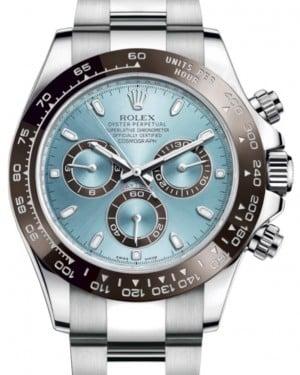 Rolex Daytona Platinum Ice Blue Index Dial Chestnut Brown Ceramic Bezel Oyster Bracelet 116506- BRAND NEW