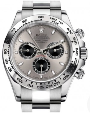 Rolex Daytona White Gold Steel/Silver Index Dial White Gold Bezel Oyster Bracelet 116509 - BRAND NEW