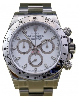 Rolex Daytona 116520 White Stainless Steel 40mm Chronograph BRAND NEW