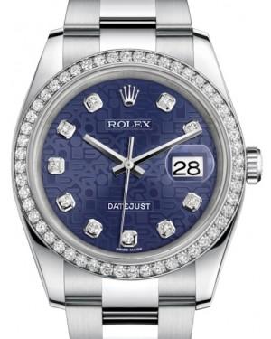Rolex Datejust 36 White Gold/Steel Blue Juibilee Diamond Dial & Diamond Bezel Oyster Bracelet 116244 - BRAND NEW
