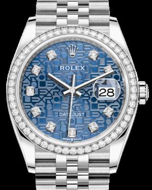 Rolex Datejust 36 White Gold/Steel Blue Jubilee Diamond Dial & Diamond Bezel Jubilee Bracelet 126284RBR - BRAND NEW