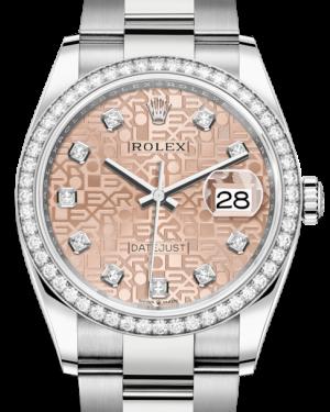 Rolex Datejust 36 White Gold/Steel Pink Jubilee Diamond Dial & Diamond Bezel Oyster Bracelet 126284RBR - BRAND NEW