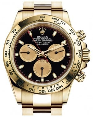 Rolex Daytona Yellow Gold Black/Champagne Index Dial Yellow Gold Bezel Oyster Bracelet 116508 - BRAND NEW