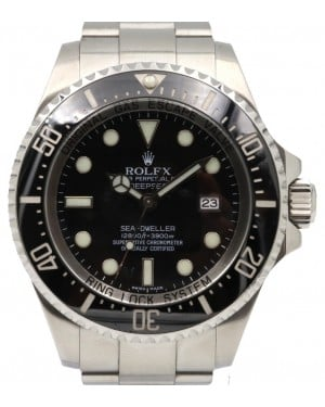 Rolex Deepsea Sea-Dweller Ceramic Date Stainless Steel 116660 Black 44mm - PRE-OWNED