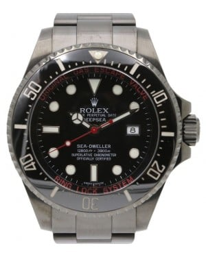 Rolex Deepsea PVD DLC Coated Stainless Steel Red Black Dial & Ceramic Bezel Oyster Bracelet 126660 - BRAND NEW