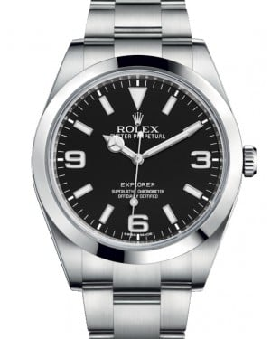 Rolex Explorer I Stainless Steel Black Arabic Index 39mm 3 6 9 New Lume Dial Oyster Bracelet 214270 - BRAND NEW
