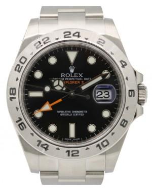 """Rolex Explorer II """"Steve McQueen"""" GMT Stainless Steel Black Dial 42mm Oyster Bracelet 216570 - BRAND NEW"""