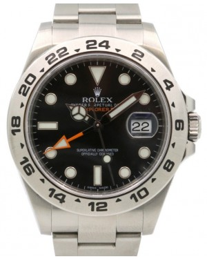 Rolex Explorer II Steve McQueen 216570 Men's 42mm Black Stainless Steel Oyster - PRE-OWNED