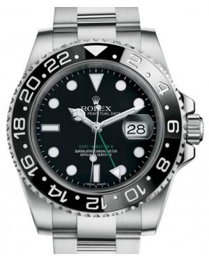 Rolex GMT-Master II Stainless Steel Black Dial & Ceramic Bezel Oyster Bracelet 116710LN - BRAND NEW