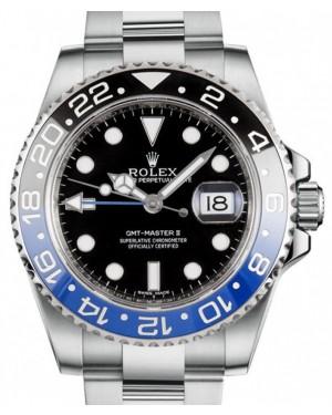 "Rolex GMT-Master II ""Batman"" Steel Black Dial & Blue/Black Ceramic Bezel Oyster Bracelet 116710BLNR - BRAND NEW"