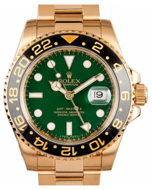 Rolex GMT-Master II Yellow Gold Green Dial & Black Ceramic Bezel Oyster Bracelet 116718LN - BRAND NEW