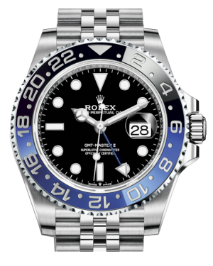 Rolex GMT-Master II Stainless Steel Black Luminous Dial & Blue/Black Ceramic Bezel Jubilee Bracelet 126710BLNR - BRAND NEW