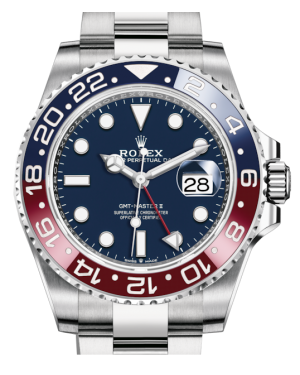 Rolex GMT-Master II White Gold Blue Luminous Dial & Red/Blue Ceramic Bezel Oyster Bracelet 126719BLRO - BRAND NEW