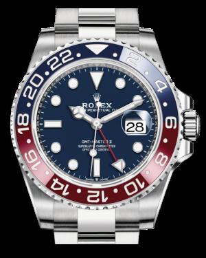 Rolex GMT-Master II White Gold Blue Luminous Dial & Red/Blue Ceramic Bezel Oyster Bracelet 126719BLRO - BRAND NEW