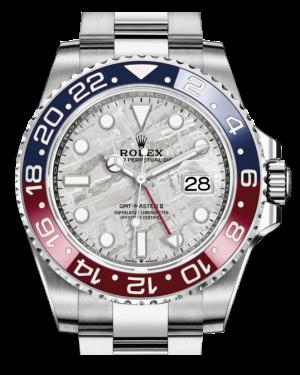 Rolex GMT-Master II White Gold Meteorite Luminous Dial & Red/Blue Ceramic Bezel Oyster Bracelet 126719BLRO - BRAND NEW