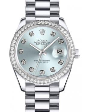 Rolex Lady-Datejust 26 179136-IBLUDP Ice Blue Diamond Dial Diamond Bezel Platinum President - BRAND NEW