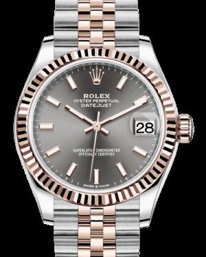 Rolex Lady-Datejust 31 Rose Gold/Steel Rhodium Index Dial & Fluted Bezel Jubilee Bracelet 278271 - BRAND NEW