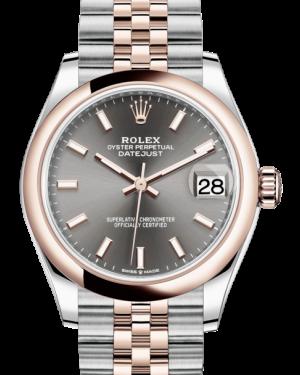 Rolex Lady-Datejust 31 Rose Gold/Steel Rhodium Index Dial & Smooth Domed Bezel Jubilee Bracelet 278241 - BRAND NEW