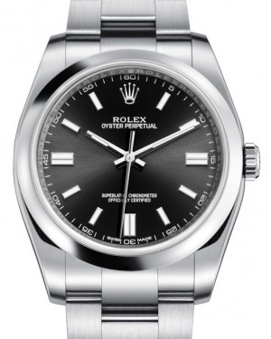 Rolex Oyster Perpetual 36 Stainless Steel Black Index Dial & Domed Bezel Oyster Bracelet 116000 - BRAND NEW