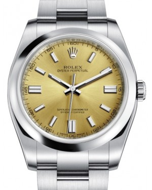 Rolex Oyster Perpetual 36 Stainless Steel White Grape Index Dial & Smooth Bezel Oyster Bracelet 116000 - BRAND NEW