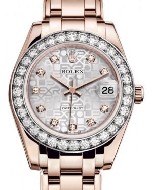 Rolex Pearlmaster 34 Rose Gold Silver Jubilee Diamond Dial & Diamond Bezel Pearlmaster Bracelet 81285 - BRAND NEW