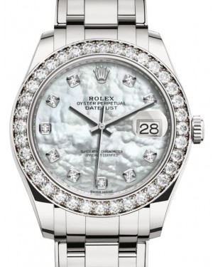 Rolex Pearlmaster 39 White Gold White Mother of Pearl Diamond Dial & Diamond Bezel Pearlmaster Bracelet 86289 - BRAND NEW