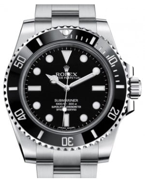 Rolex Submariner No Date Stainless Steel Black Dial & Ceramic Bezel Oyster Bracelet 114060 - BRAND NEW