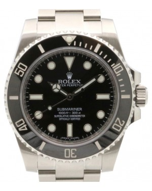 Rolex Submariner No Date Stainless Steel Black Dial & Ceramic Bezel Oyster Bracelet 114060 - PRE-OWNED 2019