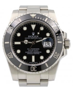Rolex Submariner Date Stainless Steel Black Dial & Ceramic Bezel Oyster Bracelet 116610LN - PRE-OWNED