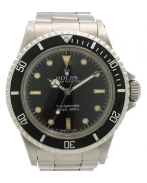 Rolex Submariner Vintage Stainless Steel Black Dial & Bezel Oyster Bracelet 5513 - PRE-OWNED