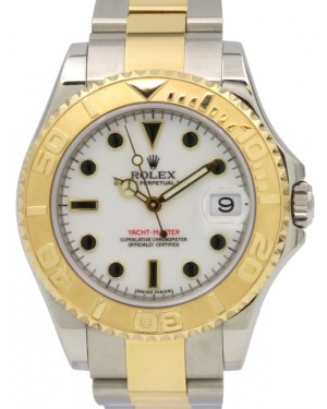 Rolex Yacht-Master 168623 Ladies Midsize 35mm 18k Yellow Gold Stainless Steel Two-Tone