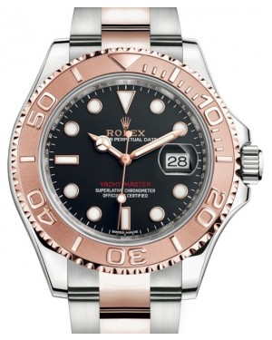 Rolex Yacht-Master 40 116621 Black Rose Gold Stainless Steel Oyster - BRAND NEW