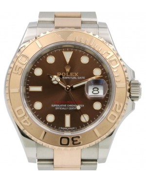 Rolex Yacht-Master 40 Everose Rose Gold/Steel Chocolate Brown Dial Gold Bezel Oyster Bracelet 116621 - PRE-OWNED 2019