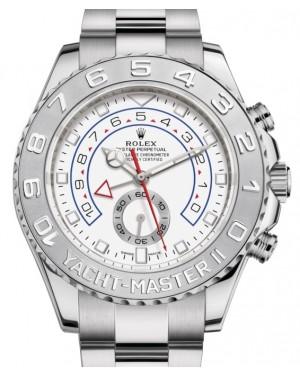 Rolex Yacht-Master II White Gold White Dial 44mm Platinum Bezel 116689 - BRAND NEW