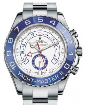Rolex Yacht-Master II Stainless Steel White Dial Mercedes Hands Blue Ceramic Bezel 116680 - BRAND NEW