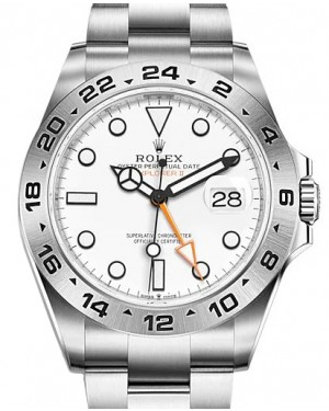 """Rolex Explorer II """"50th Anniversary"""" Stainless Steel 42mm White Dial Oyster 226570 - NEW RELEASE 2021 - BRAND NEW"""