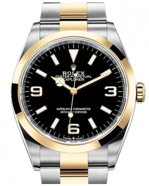 Rolex Explorer Steel/Yellow Gold Black 36mm Dial Oyster Bracelet 124273 - BRAND NEW