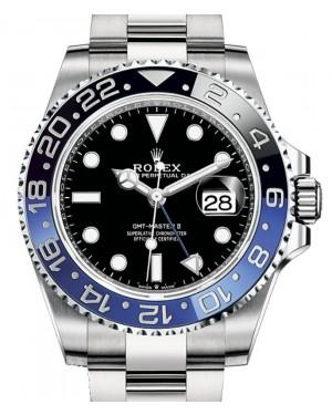 """Rolex GMT-Master II """"Batman"""" Stainless Steel Black Dial & Blue/Black Ceramic Bezel Oyster Bracelet 126710BLNR - BRAND NEW"""