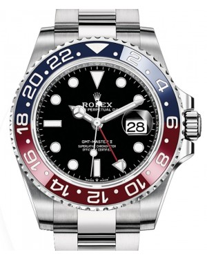 "Rolex GMT-Master II ""Pepsi"" Steel Black Dial & Red/Blue Ceramic Bezel Oyster Bracelet 126710BLRO - BRAND NEW"