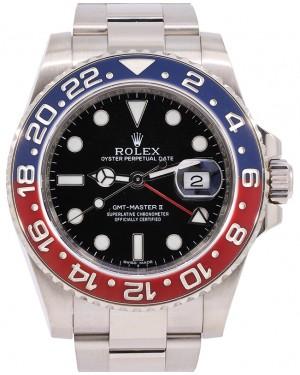 "Rolex GMT-Master II ""PEPSI"" White Gold Black Dial & Red/Blue Ceramic Bezel Oyster Bracelet 116719BLRO - PRE-OWNED"