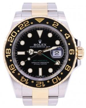 Rolex GMT-Master II Yellow Gold/Steel Black Dial Ceramic Bezel Oyster Bracelet 116713LN - PRE-OWNED