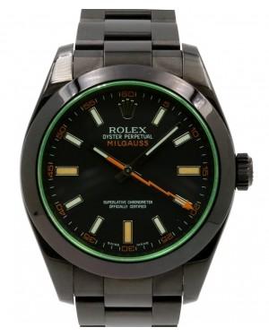 Rolex Milgauss Green Crysal Stainless Steel/PVD Black Dial & Bezel Oyster Bracelet 116400GV - BRAND NEW